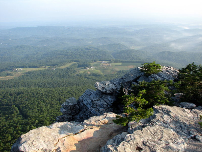 The view from Moores Knob - Hanging Rock SP, NC