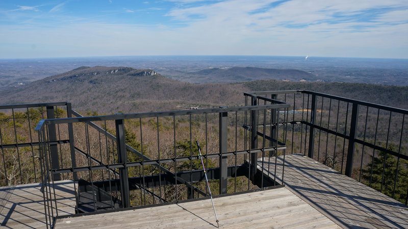 View from the observation tower on Moore's Know - Hanging Rock State Park.