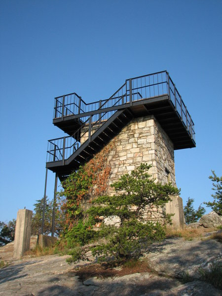 Moores Knob Observation Tower - Hanging Rock SP, NC