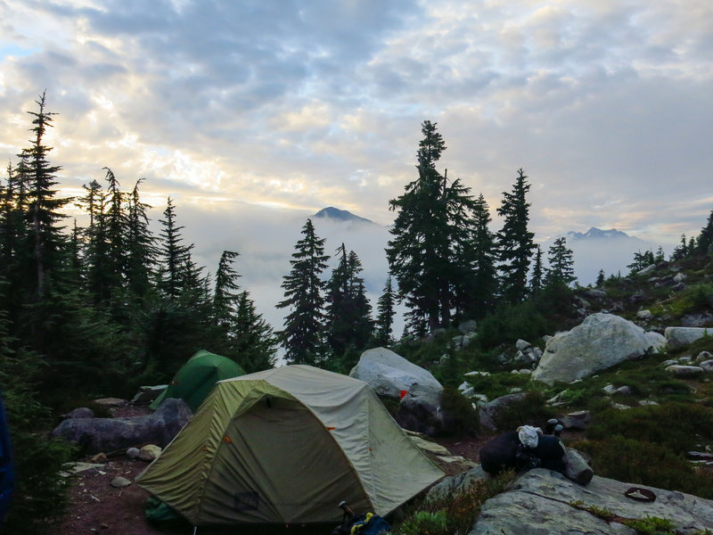 Copper Lake Campground early morning.