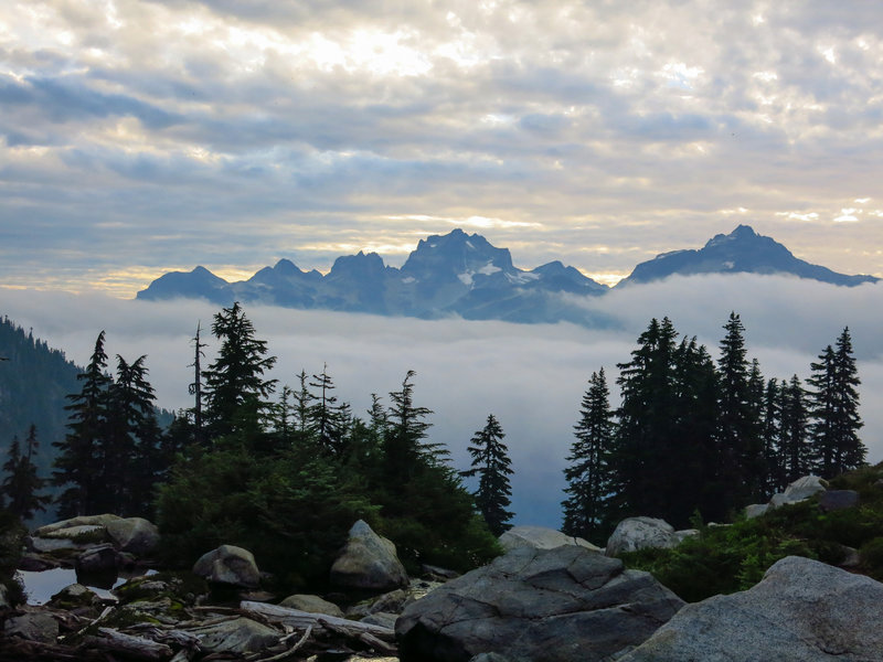 Awesome mountaintop views from Copper Lake Campground.