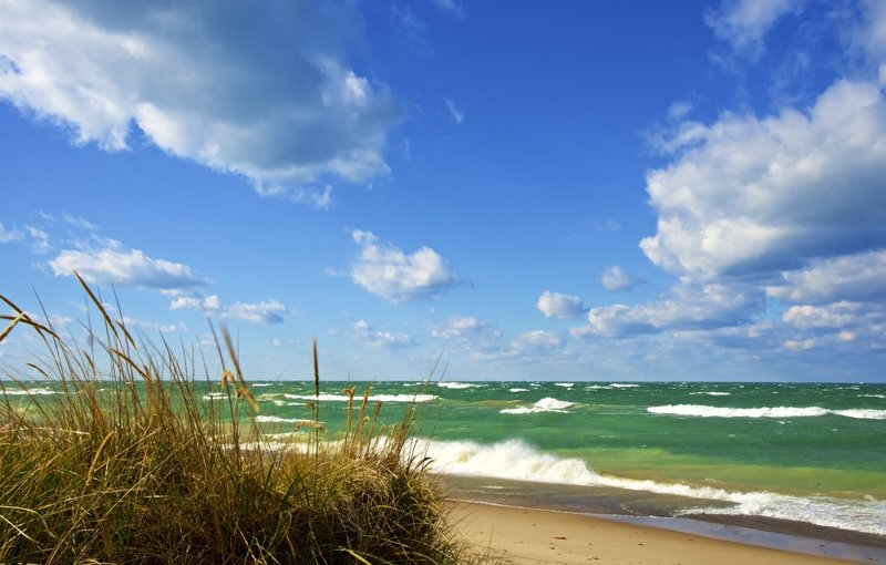 Great day on Lake Michigan at the Indiana Dunes National Lakeshore! This photo was taken just east of the Lakeview parking lot.