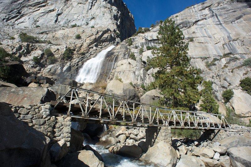 Another set of footbridges beneath Wapama Falls.