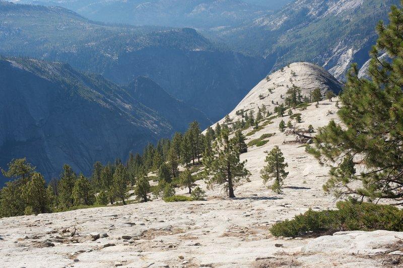 Descending Indian Ridge to North Dome.