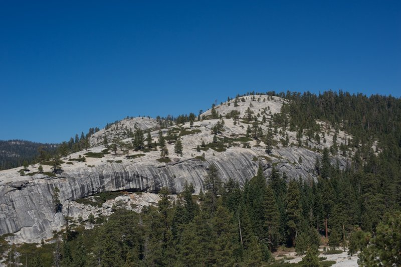 Looking back at Indian Ridge from North Dome.