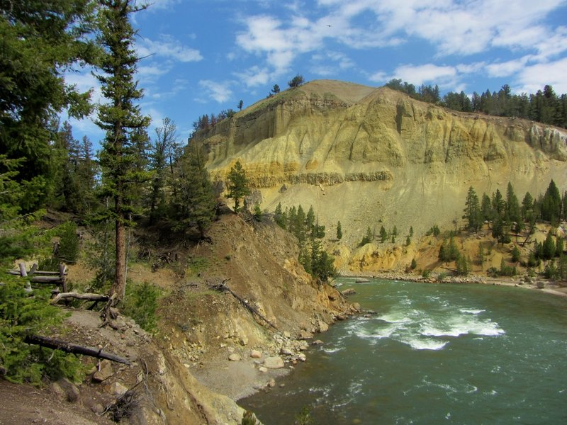 Looking down the Yellowstone River near the mouth of Tower Creek.