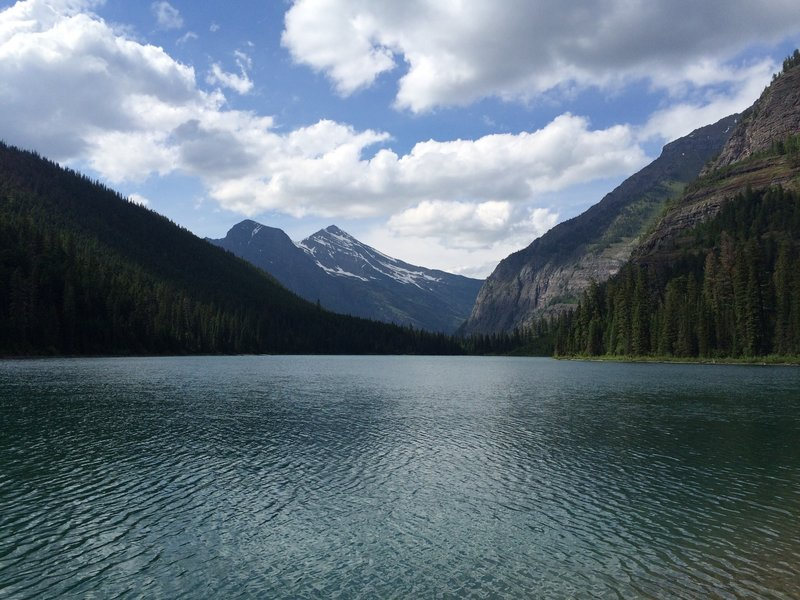 View from far end of Avalanche Lake.
