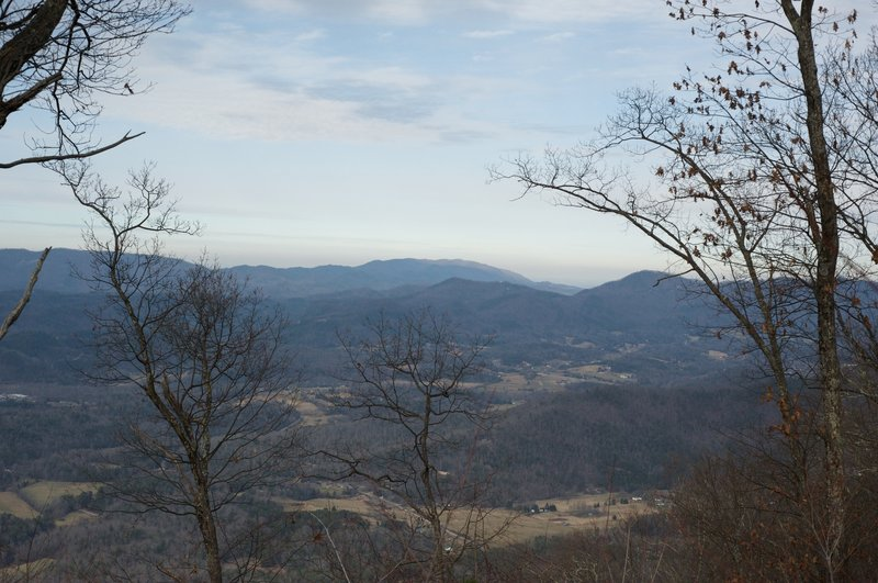 View outside of the park from the Rich Mountain Trail.