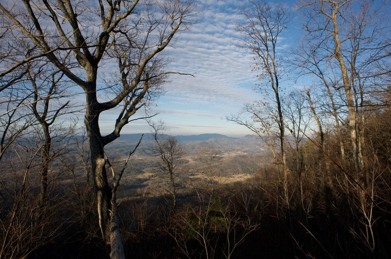 A view into Townsend area from Rich Mountain Trail.  This is all lies outside the park boundary.