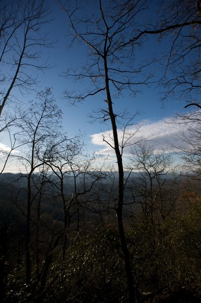 The Smokies from the Rich Mountain Trail.