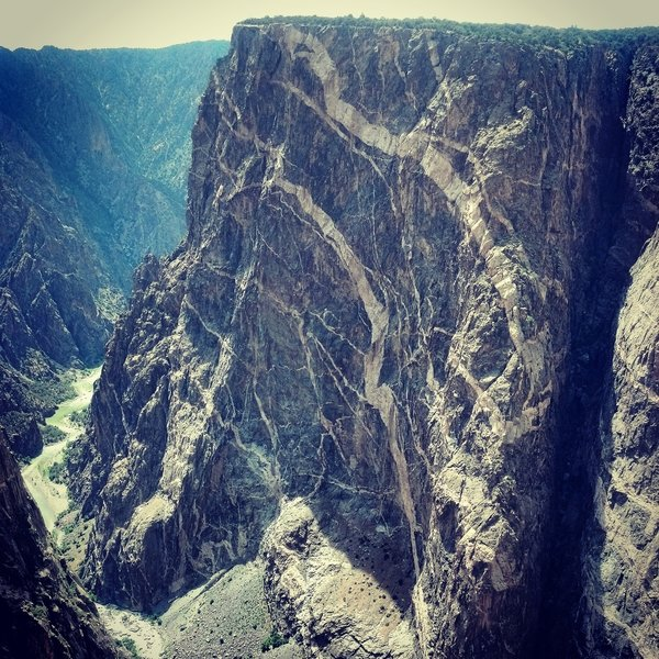 Painted Wall at Black Canyon of the Gunnison NP
