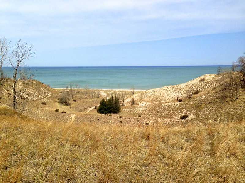 Awesome view of Lake Michigan at Beach House Blowout on Trail 9.