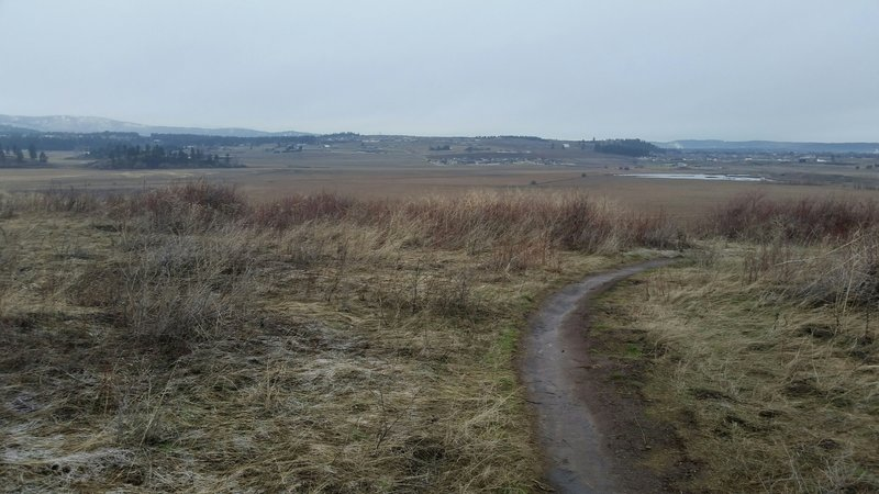This trail offers expansive views of the Spokane Valley area.
