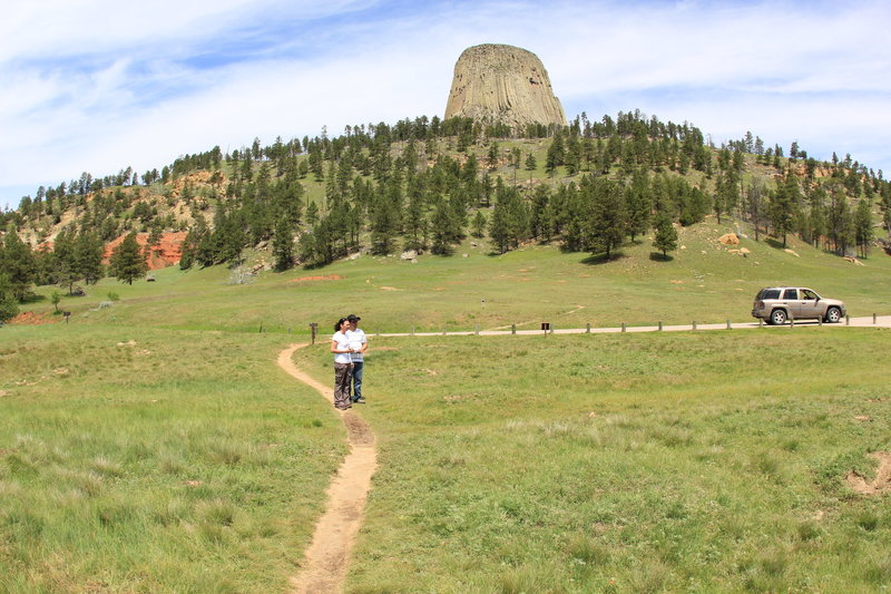 Sightseeing at Devils Tower.