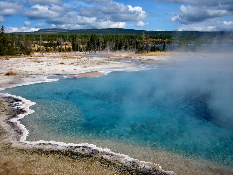 Columbia Spring in Heart Lake Geyser Basin.