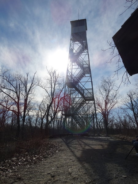 View approaching the fire tower.