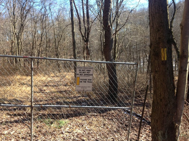 RCT runs along private property, including between houses. This section is less than a mile long, but the gates sit at the beginning and end of the property line.