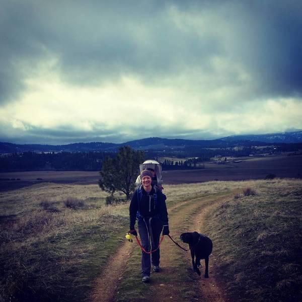Wintertime hiking.