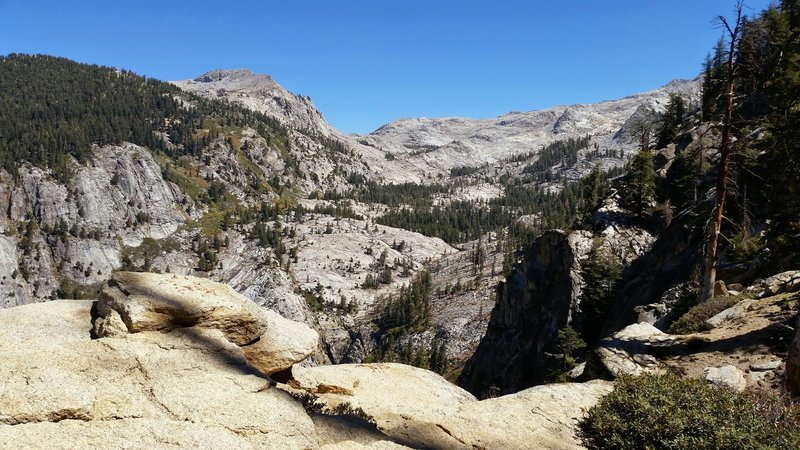 View down to Tokopah Valley from Watchtower Junction.