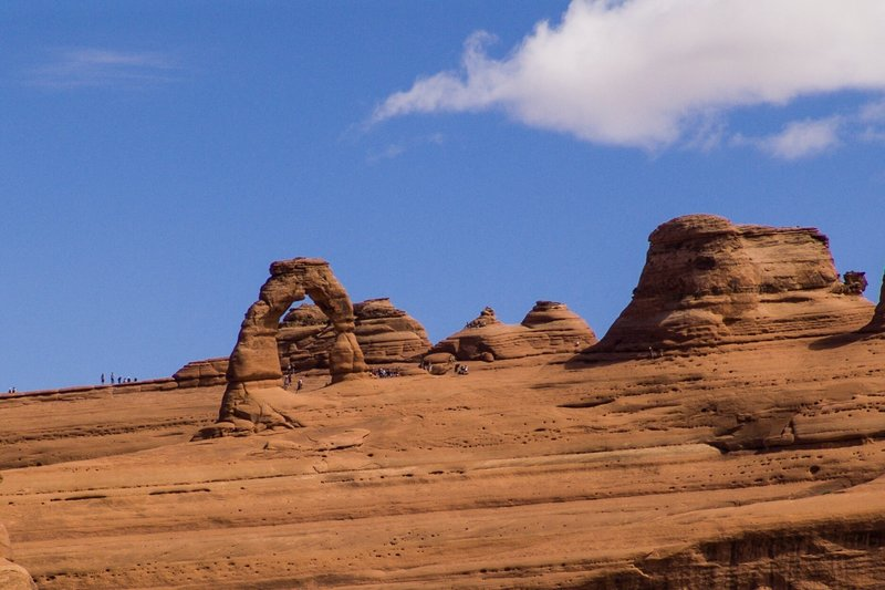 Delicate Arch from Upper Delicate Arch Viewpoint.