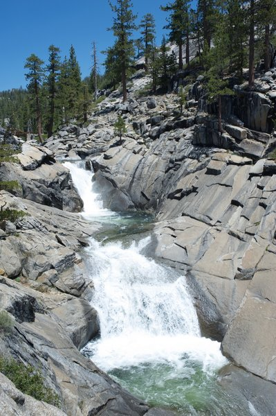 Yosemite Falls before it plunges over the North Rim.