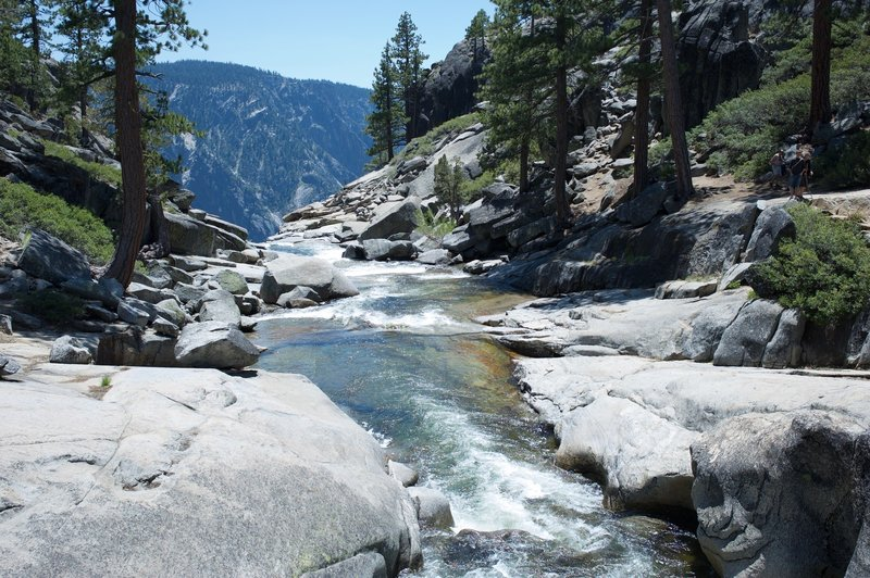 Yosemite Creek as it makes it way to Rim where it plunges over the edge.