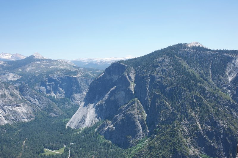 Glacier Point and Sentinel Dome from Yosemite Point.
