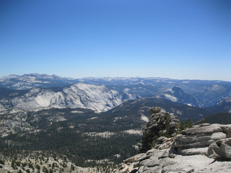 Clouds Rest and Half Dome from Mt. Hoffman.