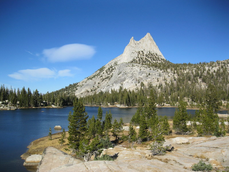 Lower Cathedral Lake w/ Cathedral Peak.