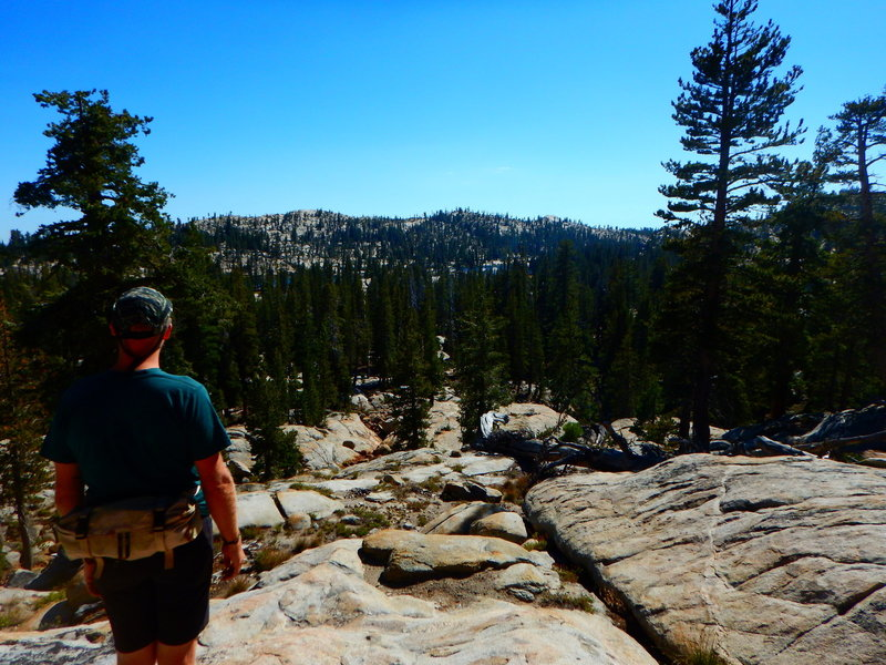 Off-trail day hike to swim at Long Lake, Emigrant Wilderness.