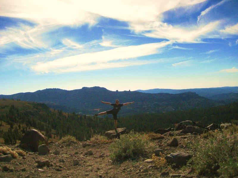 Fooling around on a rock in Eldorado National Forest!