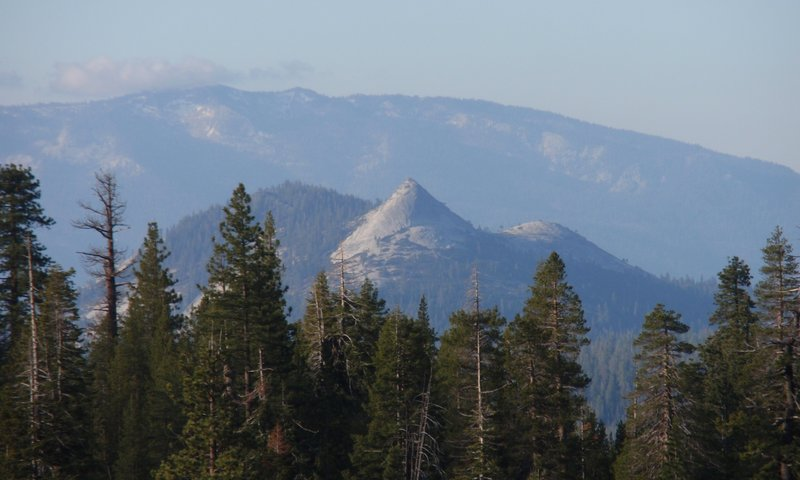 It's easy to sneak peeks of Squaw Dome from the Isberg Trail.