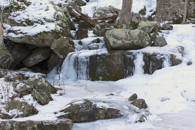 Crabtree Falls in the winter.