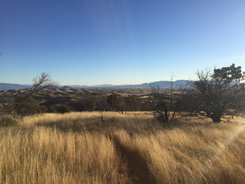 Inspiring vista of the valley below.
