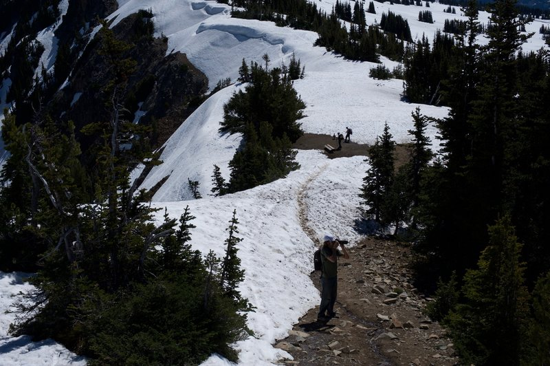 Snow can cover the trail into July. Be ready to hike in snow and check conditions before heading out.