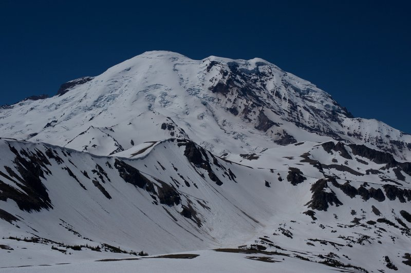 A view of Mount Rainier from the trail.