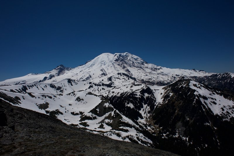 Mount Rainier from the Mt. Fremont Lookout Tower. It's a great view.