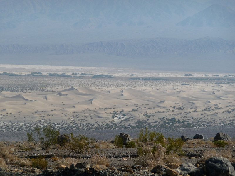 Mesquite Flat Dunes from Mosaic Canyon, Death Valley