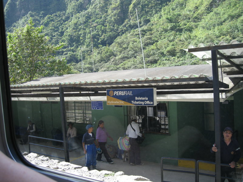The ticket office. There is one train for the locals (cheap, tourists not permitted) and another train for tourists (much more expensive, locals not permitted).