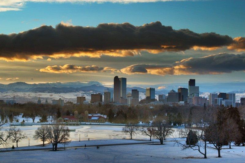 Denver sunset.