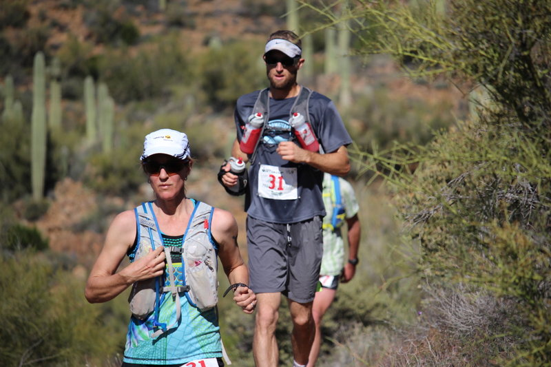 Runners during the 2015 Black Canyon 100K.