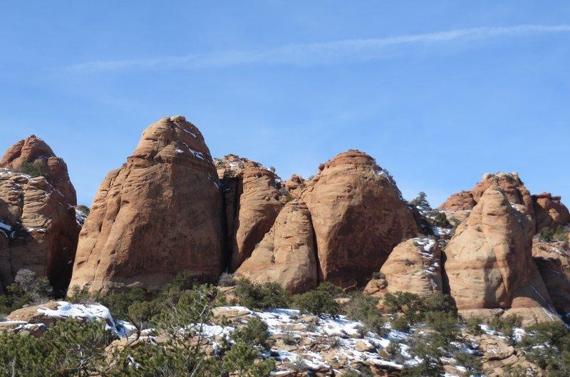Sandstone pillars.