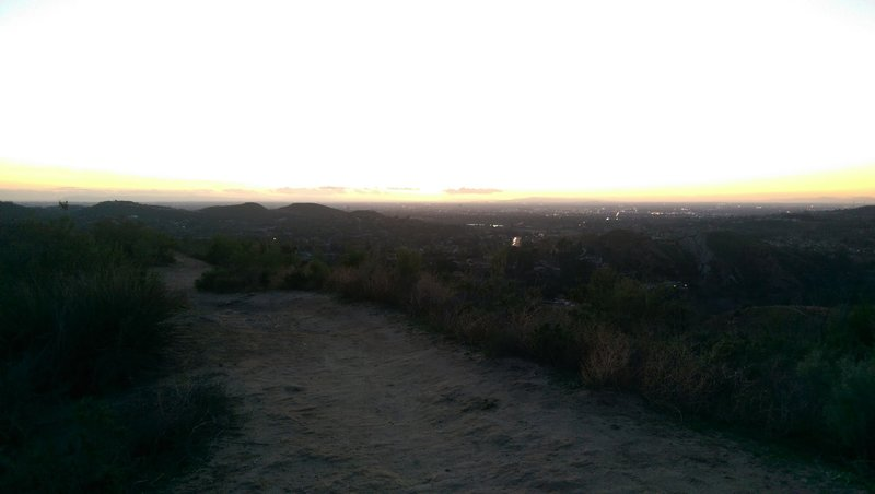 Sunset view from the lookout.
