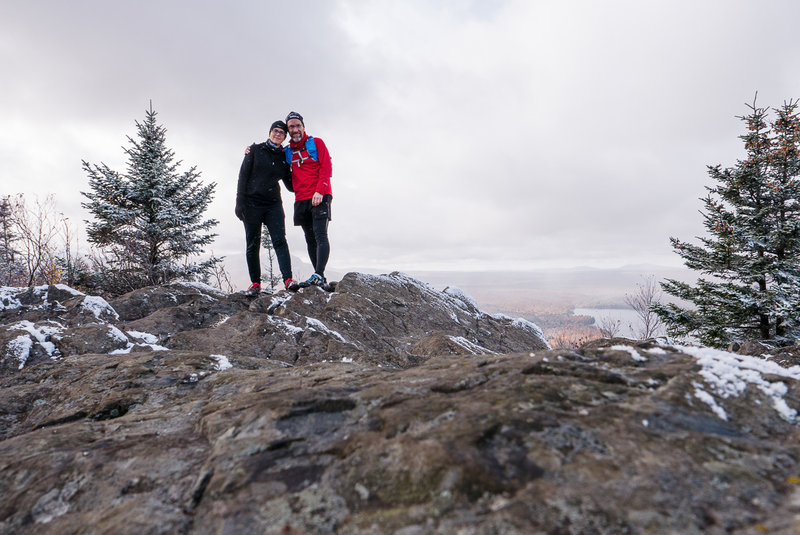 At the top of Mont Chauve