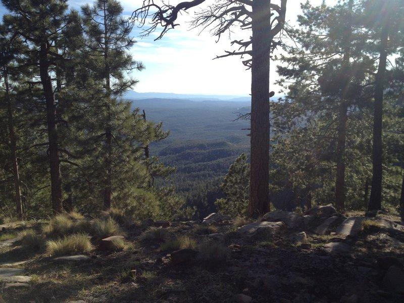 View from Mogollon Rim campsite.