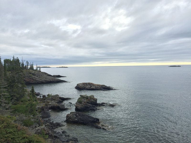 A view of Lake Superior.