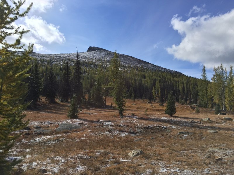 Apex Mountain with a light dusting of snow.