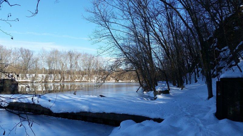 Black Rock Dam along the Upper Schuylkill River Trail, January 2016