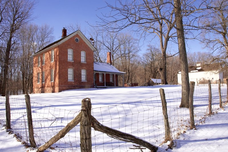 Chellberg Farm in the winter.