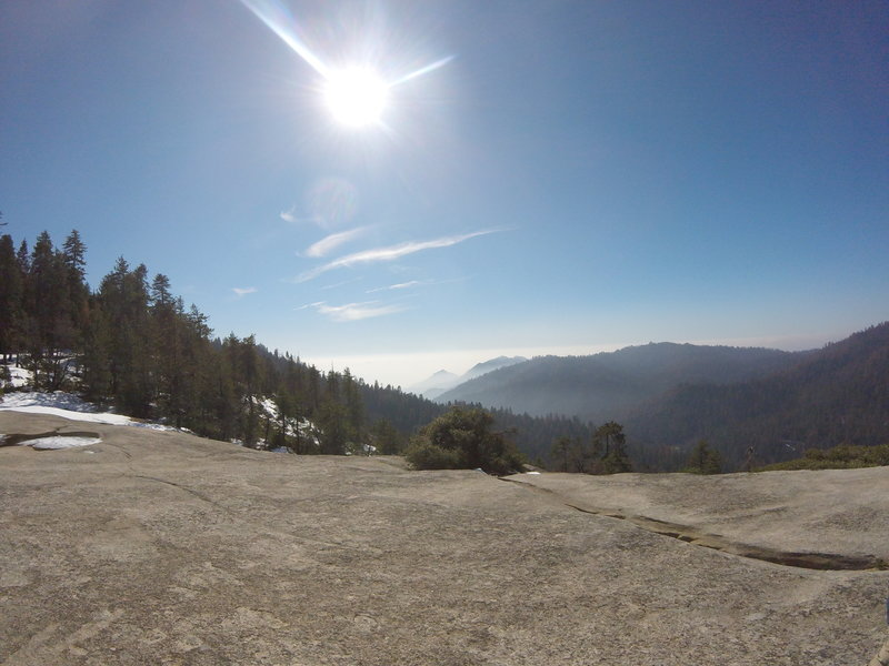 The view from Sunset Rock. This spot is an awesome place to stop and have lunch when in the park.